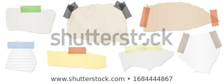Strips and scraps of a paper for design of different color. Stock photo © borysshevchuk