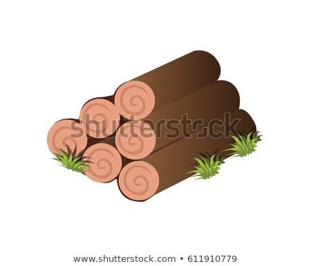 Karikatur Baum Holz Karte Element Stock foto © Loud-Mango