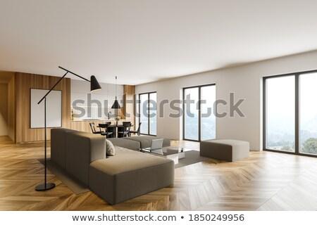 Soggiorno divano tavola piastrellato stufa angolo Foto d'archivio © Arkadivna