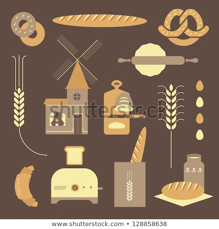 Mill flat design. Bakery. Vector illustration icon. Stock photo © Leo_Edition