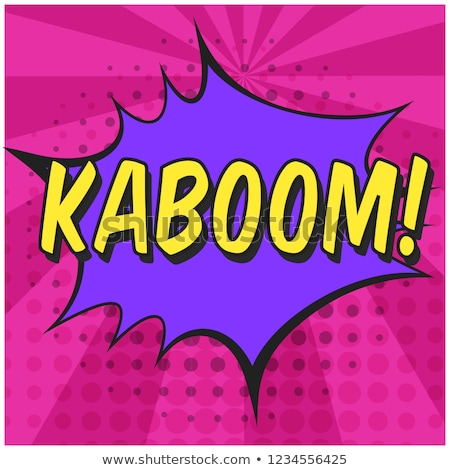 kaboom comic word Stock photo © studiostoks