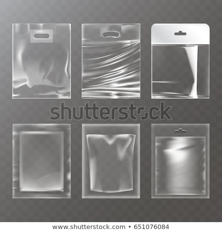 Plastic Polyethylene Pocket Bag Vector Blank. Realistic Mock Up Template Of Plastic Pocket Bag With  Stock photo © pikepicture