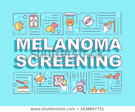 Melanoma. Diagnosis on Blue Background. Stock photo © tashatuvango