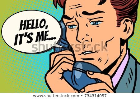 Homem falante telefone olá me Foto stock © rogistok