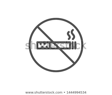 ícone linear prejudicial hábito fumador Foto stock © Olena