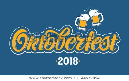 oktoberfest · poster · hop · bril · bier - stockfoto © orensila