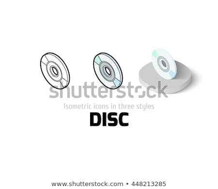 Compact disc 3D isometrische geïsoleerd witte element Stockfoto © kup1984