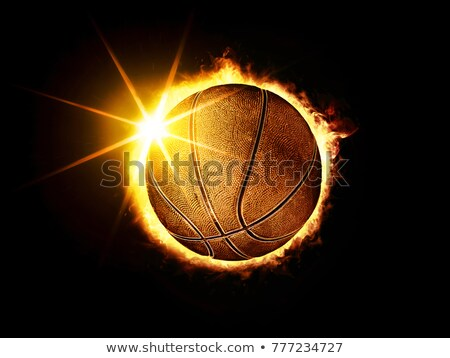 Basketbal bal zoals zonne eclips 3d illustration Stockfoto © ssuaphoto