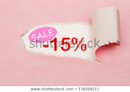 Red minus fifteen percent Stock photo © Oakozhan