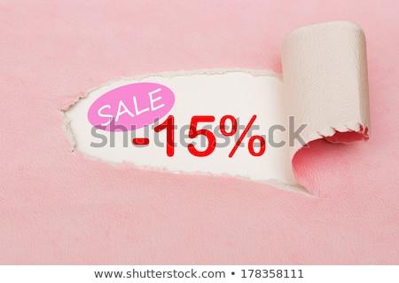 15 · procent · geïsoleerd · witte · 3d · render · teken - stockfoto © oakozhan
