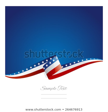 USA flag ribbon. America national symbol. Vector illustration Stock photo © popaukropa