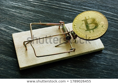 Bitcoin blanche isolé affaires argent fond Photo stock © OleksandrO