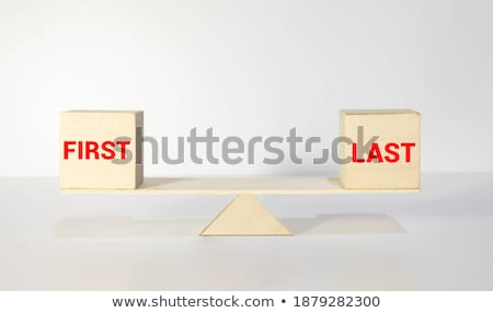 Opposite words for first and last Stock photo © bluering
