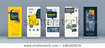 sale banner abstract business vector of roll up stand design with colourful background for show e stock photo © diamond-graphics