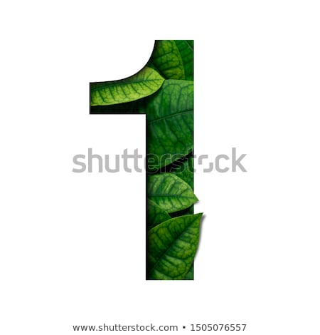 Number one made from colorful numbers Stock photo © orson