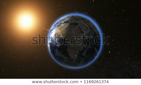 земле · пространстве · Азии · Focus · подробный · 3d · визуализации - Сток-фото © nasa_images