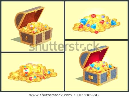 Tesoro monedas taza anunciante imagen estrellas Foto stock © robuart