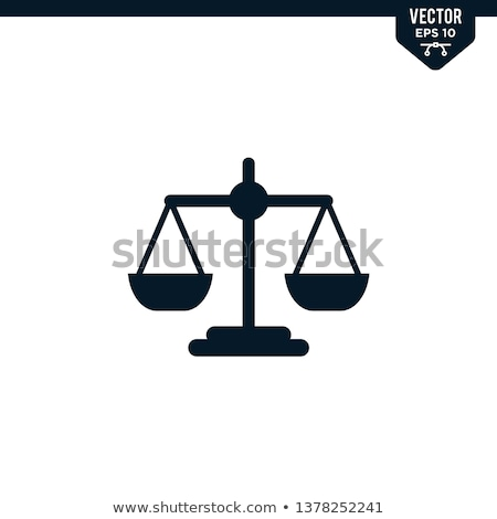 Law Justice Solid Web Icons Stock photo © Anna_leni