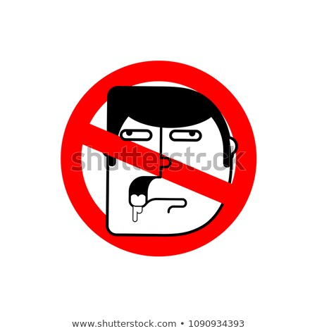 stop stupid forbidden to be blunt road red prohibition sign b stock photo © popaukropa