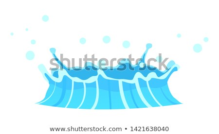 Blue Geyser Flow of Water from under Earth Drawing Stock photo © robuart