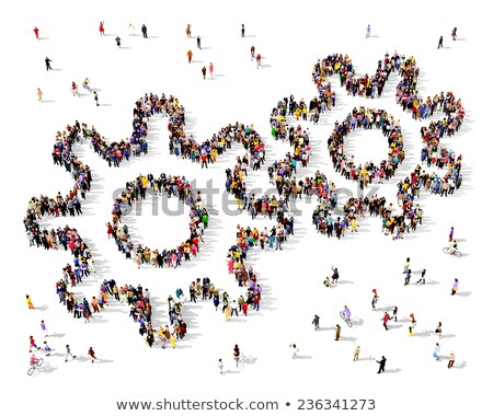 Icon of cogwheel for business development concept Stock photo © ussr