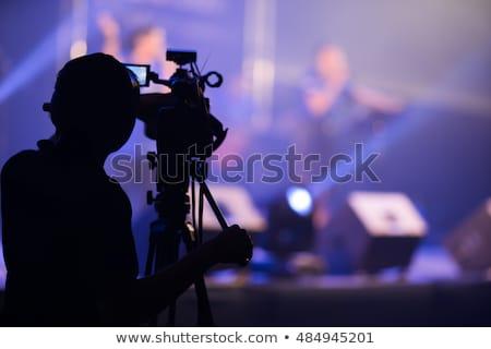 Tevékenység film ki személy sziluett nő Stock fotó © Krisdog