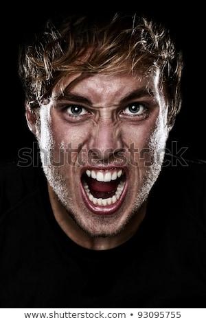 недовольный кричали молодым человеком фото изолированный белый Сток-фото © deandrobot