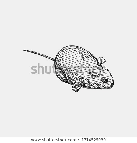 Cat clockwork toy isolated. Pet Vector illustration Stock photo © MaryValery