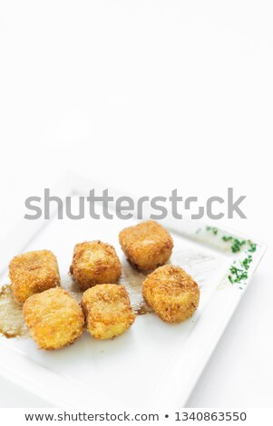 fried mashed potato square croquettes simple vegetarian side dis Stock photo © travelphotography