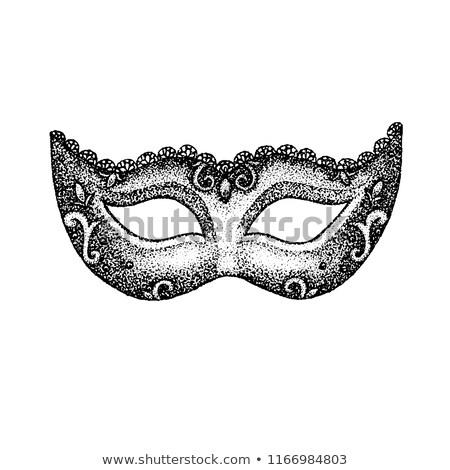 Vintage маске футболки дизайна татуировка рисованной Сток-фото © Anna_leni