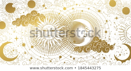 gold crescent on blue background stock photo © blackmoon979
