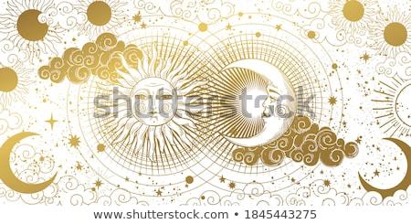 Aur semiluna albastru bijuterie pretios Imagine de stoc © blackmoon979