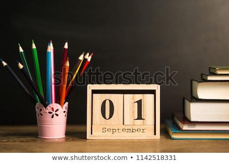 Kalender Rood witte icon Stockfoto © Oakozhan