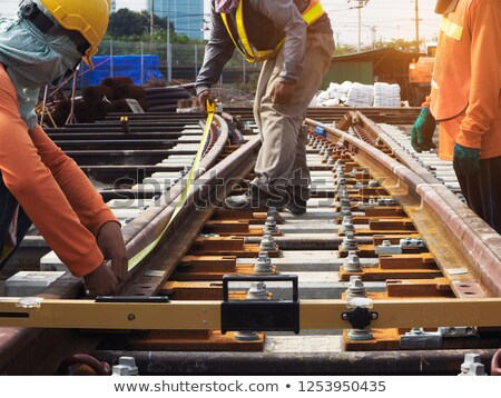 Subway Workers Working on the Rails Stock photo © artisticco
