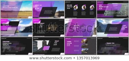 Meisje macht brochure web design schets banner Stockfoto © Anna_leni