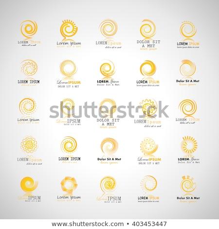 Gelb Sonne swirl logo Symbol Symbol Stock foto © blaskorizov