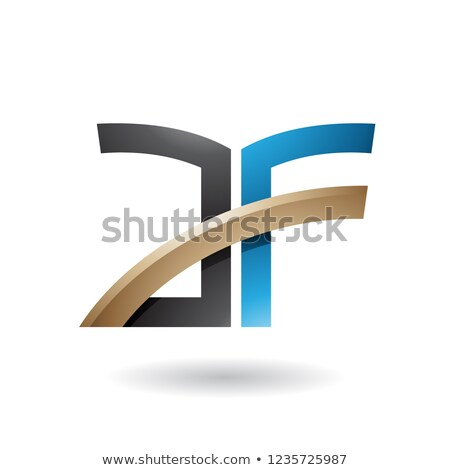 Black and Blue Dual Letter Icon of A and F Vector Illustration Stock photo © cidepix