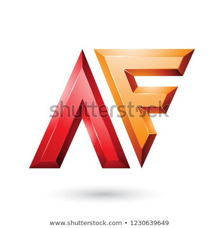Red and Orange Glossy Dual Letters of Letters A and F Vector Ill Stock photo © cidepix
