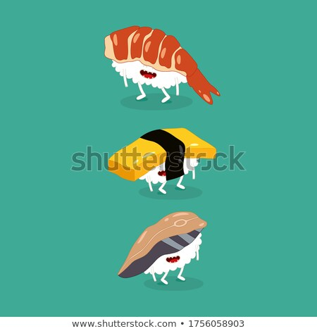 Eel and Clam Seafood Vector Vintage Illustrations Stock photo © robuart