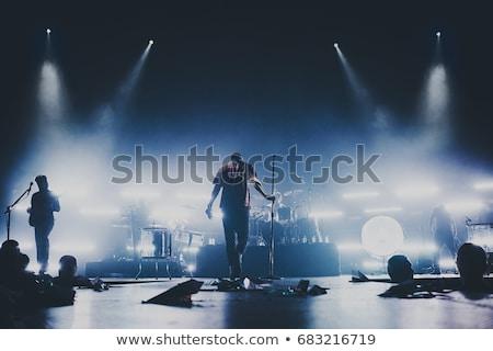 Banda etapa discoteca música rock concierto auténtico Foto stock © cookelma