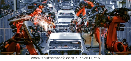 Stock photo: Robotic Arm modern industrial technology. Automated production c