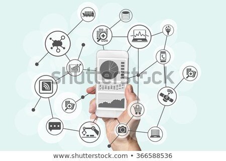Fintech financial big data concept with analyst Stock photo © Elnur