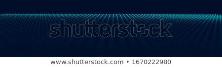 Сток-фото: Abstract Grid Background Vector 3d Grid Dot Design Technology Scene Brochure Poster Illustrati