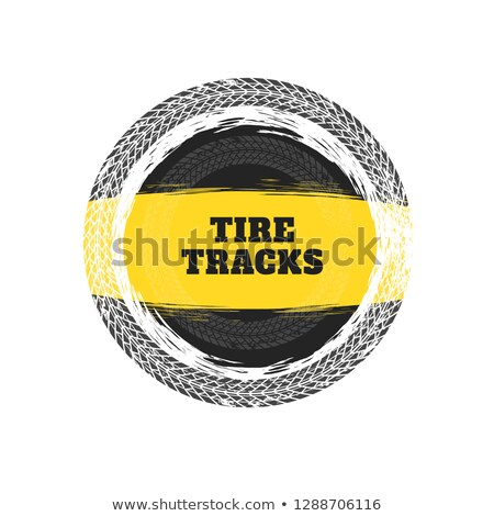 tire tracks circular frame background stock photo © sarts
