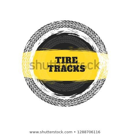 tire tracks circular frame background Stock photo © SArts