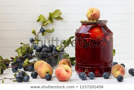 Photo stock: Fruits · baies · verre · peu · profond · alimentaire