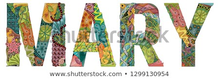 female name mary vector decorative zentangle object stock photo © natalia_1947