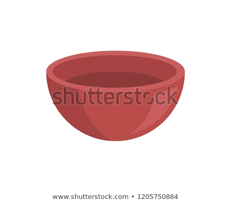 Empty Clay Bowl Isolated Vector Icon Cartoon Style Stock photo © robuart