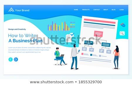 Weboldal üzlet terv sikeres küldetés vektor Stock fotó © robuart