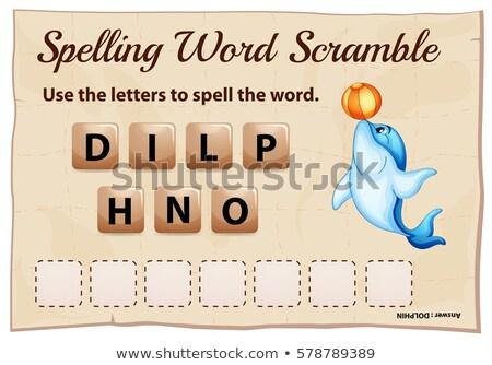 Yazım kelime şablon yunus örnek okul Stok fotoğraf © colematt